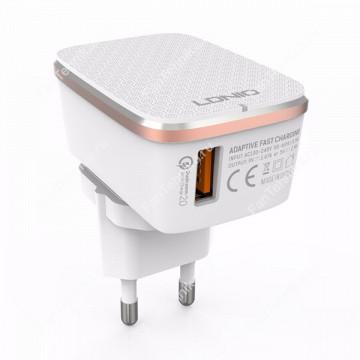 Сетевой блок питания LDNIO A1204Q (1 USB, 2.4A)