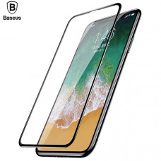 Защитное стекло для Apple iPhone X (Baseus 4D Tempered Glass Film)