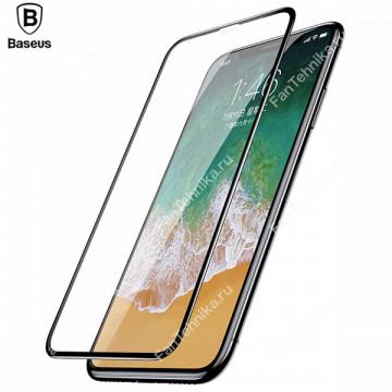 Защитное стекло для Apple iPhone X (Baseus 4D Tempered Glass Film)