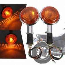 Круглые поворотники для мотоцикла (2 шт)