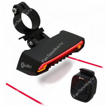 Задний велосипедный фонарь с поворотниками LED Laser X5